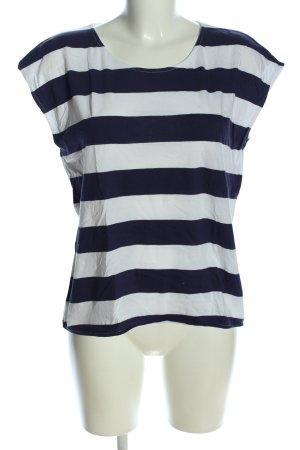 H&M L.O.G.G. T-Shirt weiß-blau Allover-Druck Casual-Look