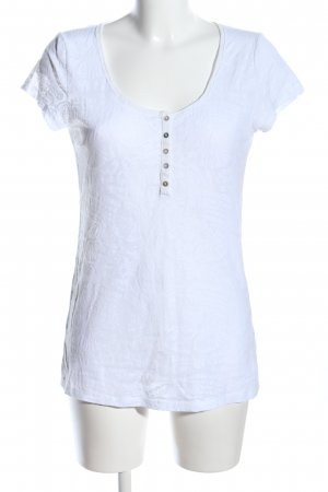 H&M L.O.G.G. T-Shirt weiß abstraktes Muster Casual-Look