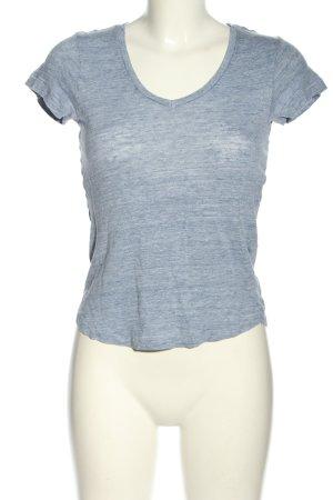 H&M L.O.G.G. T-Shirt blau meliert Casual-Look