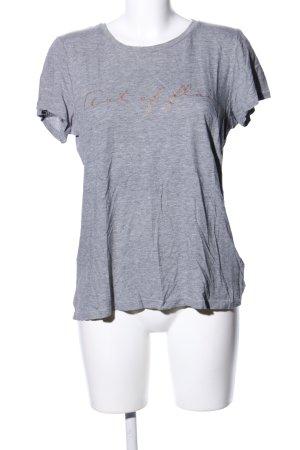 H&M L.O.G.G. T-Shirt hellgrau meliert Casual-Look