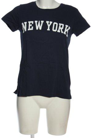 H&M L.O.G.G. T-Shirt blau Schriftzug gedruckt Casual-Look
