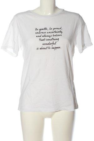 H&M L.O.G.G. T-Shirt weiß-schwarz Schriftzug gedruckt Casual-Look