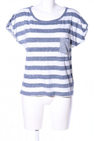 H&M L.O.G.G. T-Shirt weiß-blau Allover-Druck Casual-Look