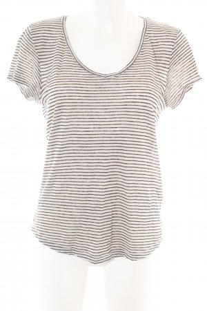 H&M L.O.G.G. T-Shirt creme-hellgrau Streifenmuster Casual-Look