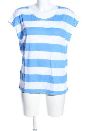 H&M L.O.G.G. T-Shirt weiß-blau Streifenmuster Casual-Look