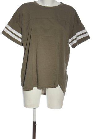 H&M L.O.G.G. T-Shirt braun-weiß Streifenmuster Casual-Look
