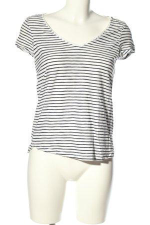H&M L.O.G.G. T-Shirt weiß-schwarz Streifenmuster Casual-Look