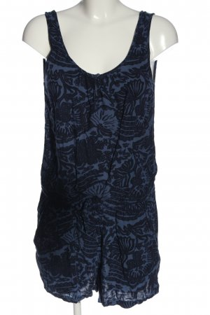 H&M L.O.G.G. Trägerkleid blau-schwarz Allover-Druck Casual-Look