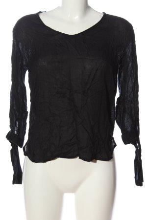 H&M L.O.G.G. Transparenz-Bluse schwarz Casual-Look