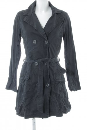 H&M L.O.G.G. Trenchcoat dunkelblau Casual-Look