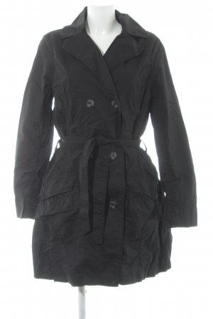 H&M L.O.G.G. Trenchcoat schwarz Casual-Look