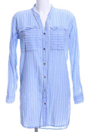 H&M L.O.G.G. Tunikabluse himmelblau-weiß Streifenmuster Casual-Look