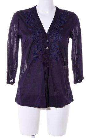 H&M L.O.G.G. Tunikabluse lila-blau Blumenmuster Casual-Look