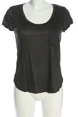 H&M L.O.G.G. Boothalsshirt khaki gestippeld casual uitstraling