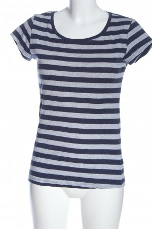 H&M L.O.G.G. Koszulka z dekoltem w łódkę niebieski-jasnoszary Melanżowy