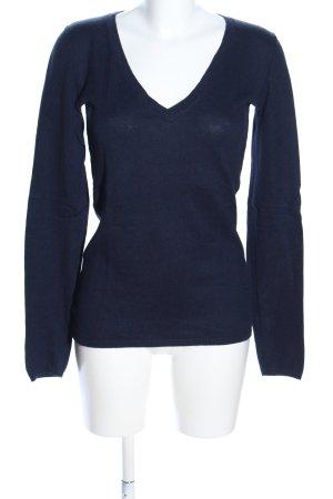 H&M L.O.G.G. V-Ausschnitt-Pullover blau Casual-Look