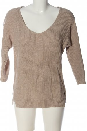 H&M L.O.G.G. V-Ausschnitt-Pullover pink Zopfmuster Casual-Look