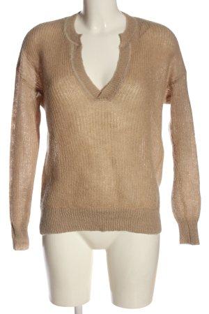 H&M L.O.G.G. V-Ausschnitt-Pullover nude Casual-Look