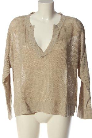 H&M L.O.G.G. V-Ausschnitt-Pullover creme Casual-Look