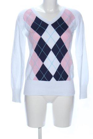 H&M L.O.G.G. V-Ausschnitt-Pullover grafisches Muster Casual-Look