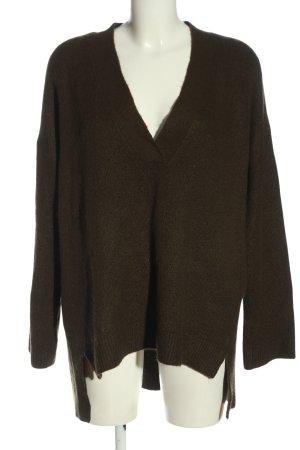 H&M L.O.G.G. V-Ausschnitt-Pullover braun Casual-Look