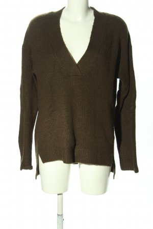 H&M L.O.G.G. V-Ausschnitt-Pullover khaki Casual-Look