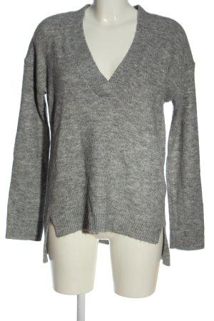 H&M L.O.G.G. V-Ausschnitt-Pullover hellgrau Casual-Look