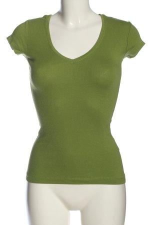 H&M L.O.G.G. Koszulka z dekoltem w kształcie litery V zielony W stylu casual
