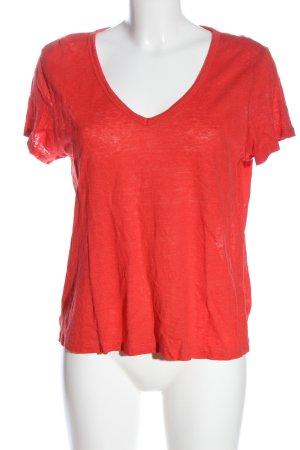 H&M L.O.G.G. Camisa con cuello V rojo look casual