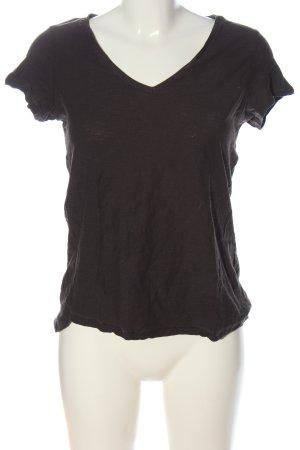H&M L.O.G.G. V-Ausschnitt-Shirt braun Casual-Look
