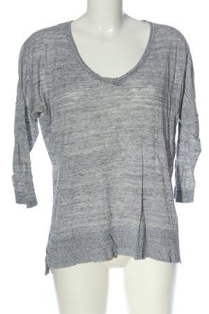 H&M L.O.G.G. V-Ausschnitt-Shirt hellgrau meliert Casual-Look