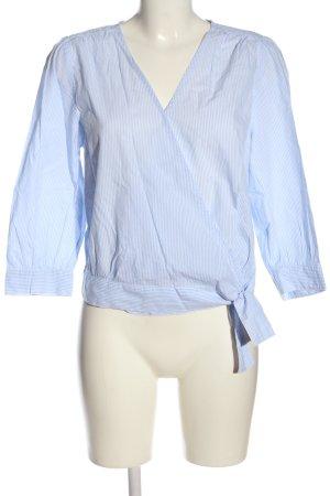 H&M L.O.G.G. Wickel-Bluse blau-weiß Streifenmuster Casual-Look