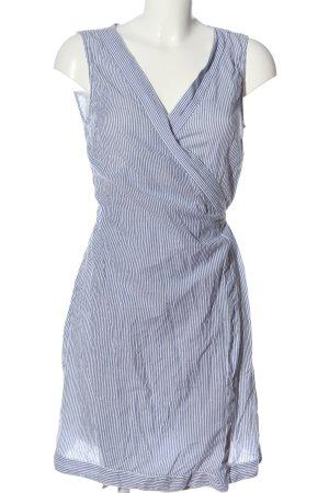 H&M L.O.G.G. Kopertowa sukienka jasnoszary-biały Wzór w paski W stylu casual