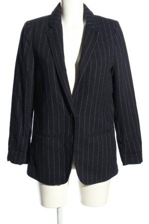H&M L.O.G.G. Woll-Blazer schwarz-weiß Streifenmuster Business-Look