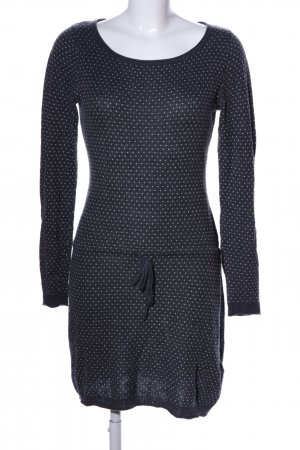 H&M L.O.G.G. Vestito di lana grigio chiaro-bianco stampa integrale stile casual