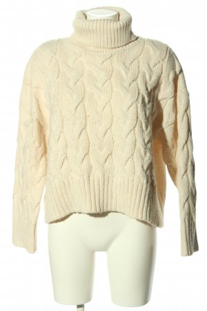 H&M L.O.G.G. Cable Sweater cream cable stitch casual look