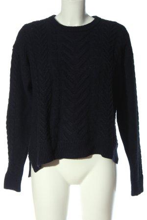 H&M L.O.G.G. Jersey trenzado negro punto trenzado look casual