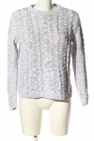 H&M L.O.G.G. Cable Sweater light grey flecked casual look