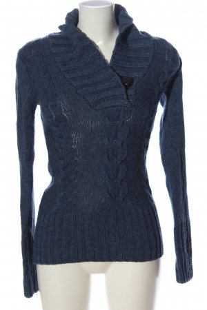 H&M L.O.G.G. Cable Sweater blue cable stitch casual look