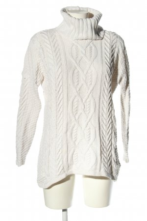 H&M L.O.G.G. Zopfpullover weiß Zopfmuster Casual-Look