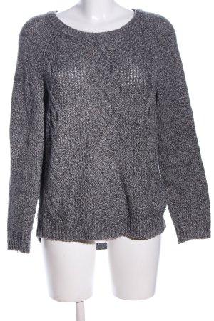 H&M L.O.G.G. Maglione intrecciato grigio chiaro puntinato stile professionale