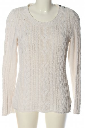 H&M L.O.G.G. Zopfpullover wollweiß Zopfmuster Casual-Look