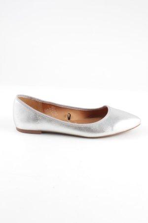 H&M Lakleren ballerina's zilver casual uitstraling