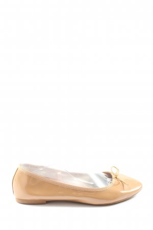 H&M Ballerines en cuir verni blanc cassé style décontracté