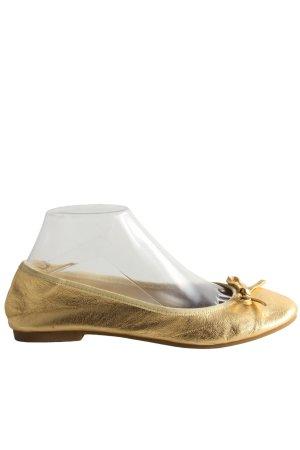 H&M Lackballerinas goldfarben Casual-Look