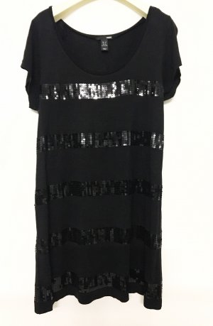 H&M Camisa larga negro Viscosa