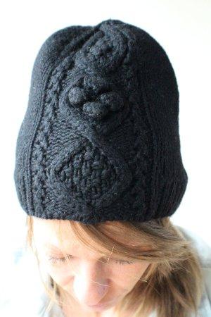 H&M Cappello a maglia nero Lana