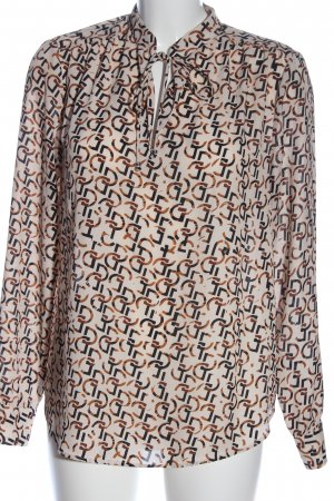 H&M Langarm-Bluse Allover-Druck Business-Look
