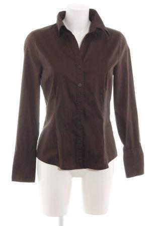 H&M Langarm-Bluse braun Business-Look