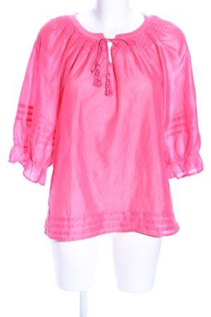 H&M Langarm-Bluse pink Streifenmuster Casual-Look